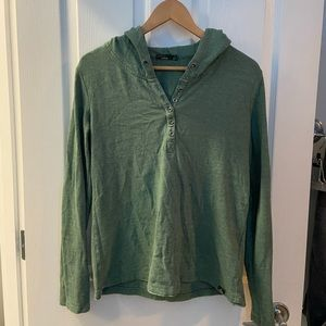 Prana hoodie Henley style sz M